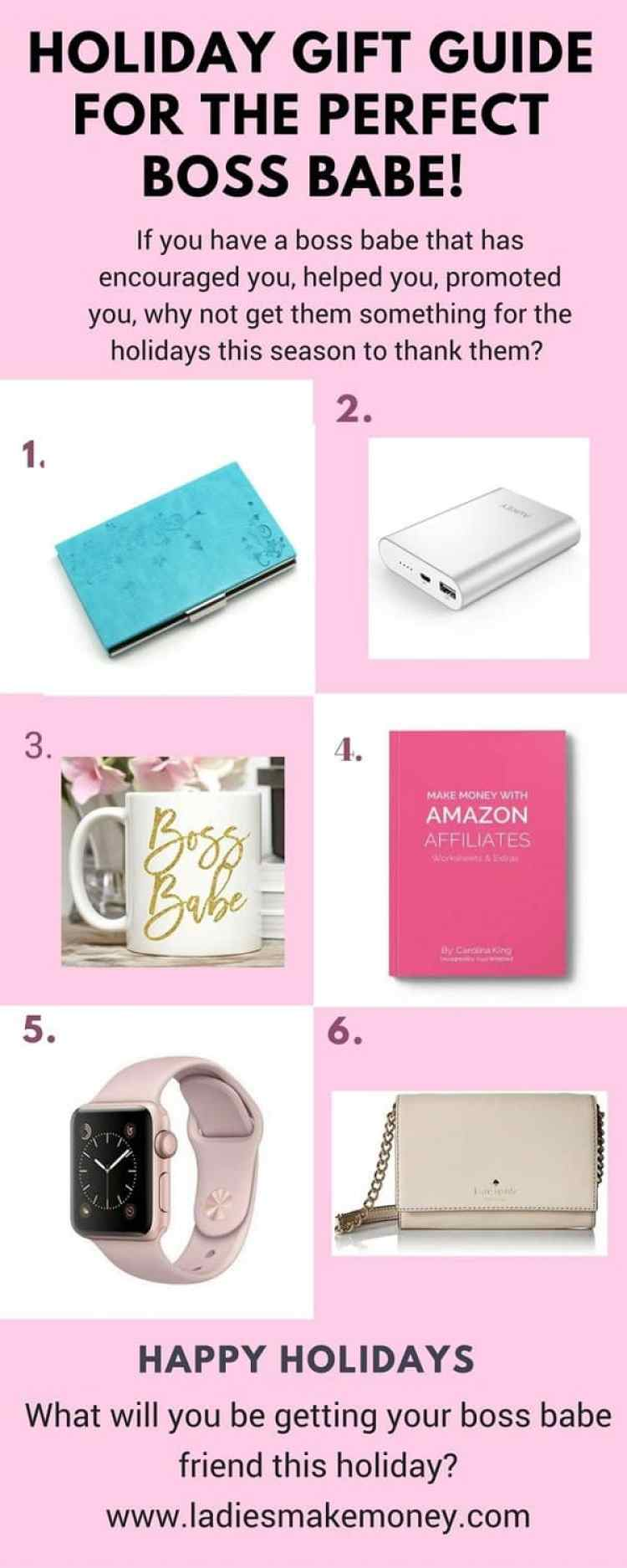 The perfect Gift Guide for the boss babe. Get it for the holidays!