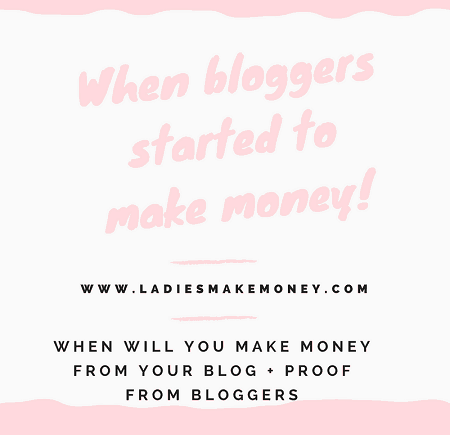 When will you make money from your blog + Proof from bloggers