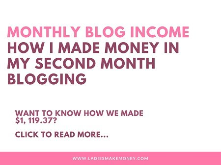Monthly blog income report