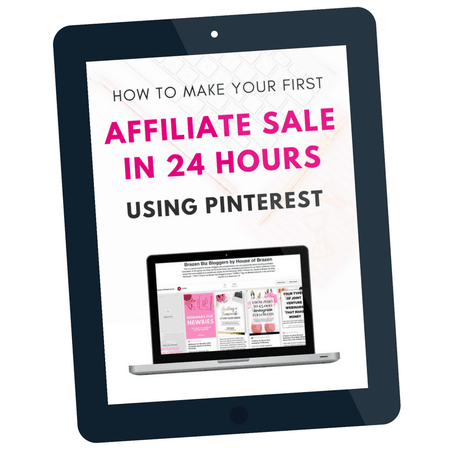 Make an affiliate sale in the next 24 hours with Pinterest