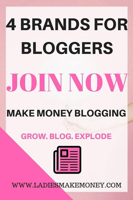 Working with brands as a blogger to make money online