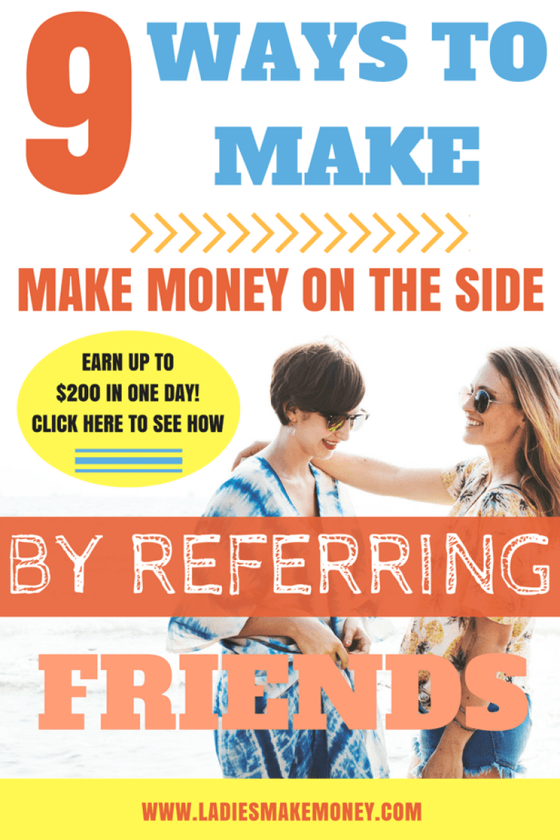 Here are a few ways to make money on the side by referring your friends. They are so many creative ways to make money from home by side hustling. Money tips to help make extra cash using your phone. Ideas to make extra money fast you can do starting today to make extra money! Ways to make money online for stay at home moms. Making extra money working from home. How to make. Make extra money fast to pay your off your debt. side hustles, make extra money, ways to make extra money, work from home. Ways to make money online for stay at home moms. #makemoneyonline