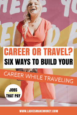 Want to make MONEY while traveling? Check out these awesome ideas to earn an income while traveling | Professional Travel Blogger | Travel job ideas. The best travel jobs for travel bloggers to make extra money online. Here are tips to make a living while traveling. Get paid to travel. Make money online while traveling. #travelblogger #makemoneyonline #seetheworld #Travelhacks