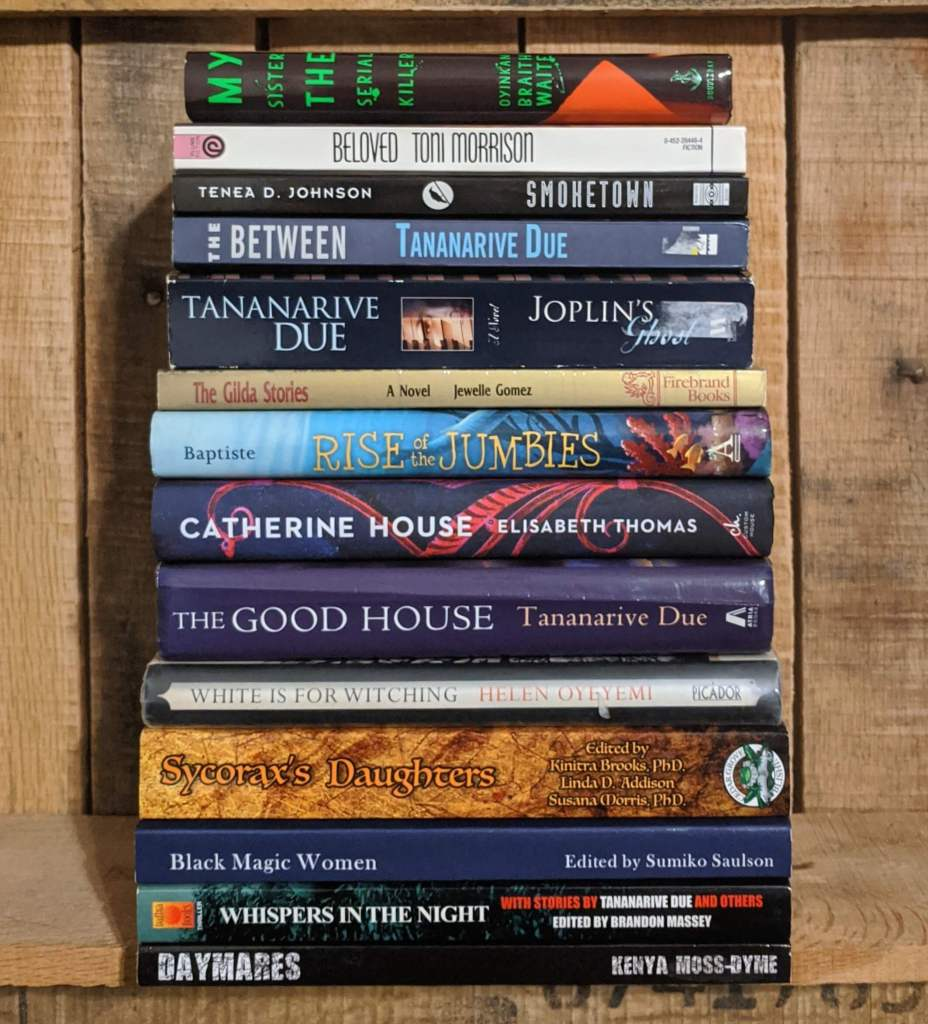 Book Stack Black Ladies of Horror Fiction