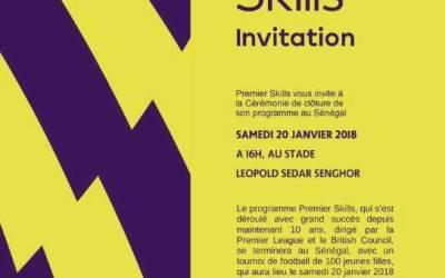 Janvier 2018- Tournoi de Football Féminin pour célébrer le partenariat avec Premier League et British Council