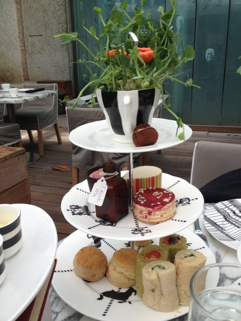 My Mad Hatter's Tea Party afternoon tea.