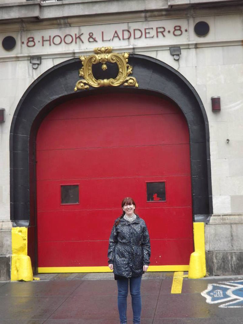 Keri outside the Ghostbusters HQ in New York City.
