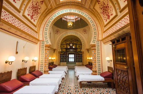 Relaxation room at the Victorian Turkish bath, Harrogate