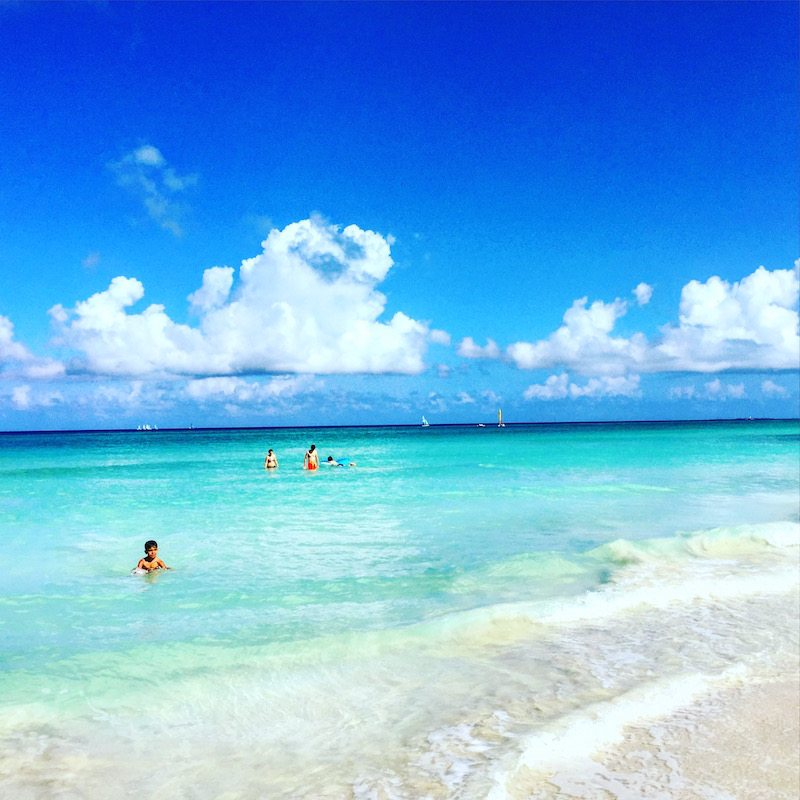 The beautiful Varadero beach.