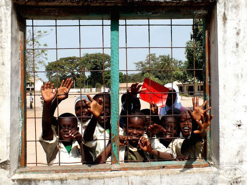 Gambia - Through the square window...