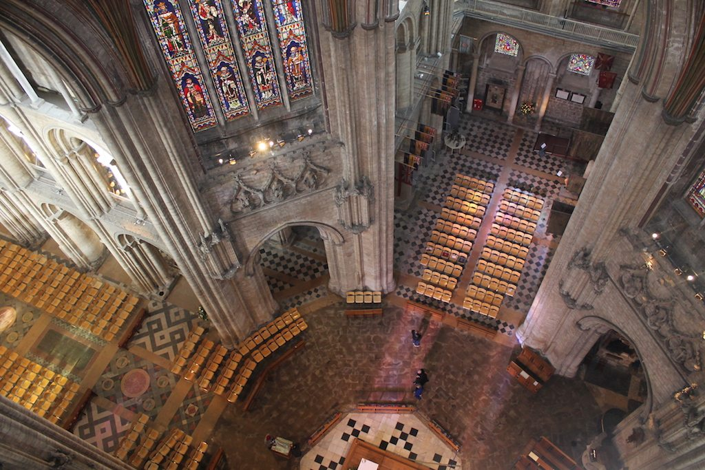 looking down ely cathedral | Ladies What Travel