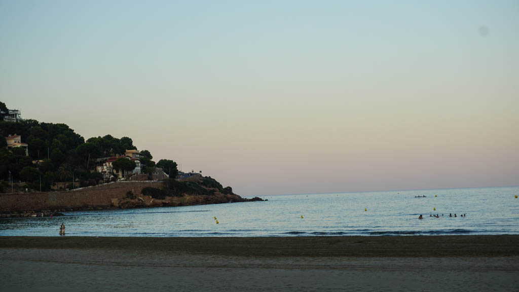 Benicassim beach at sunset