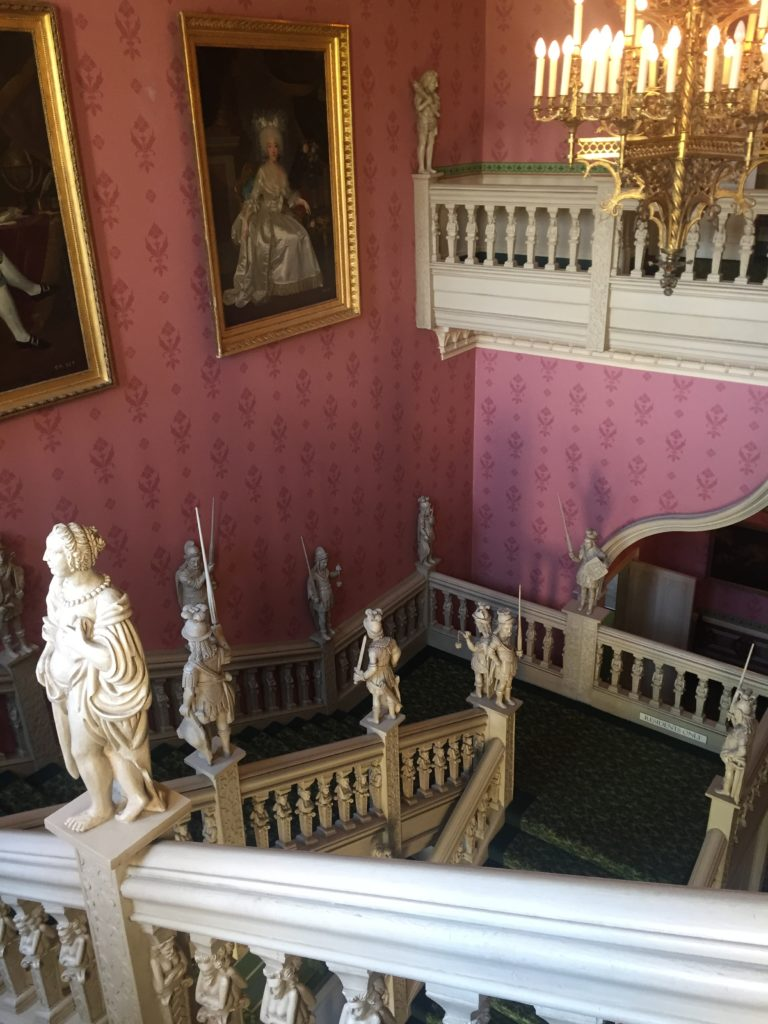 Picture from the top of the staircase