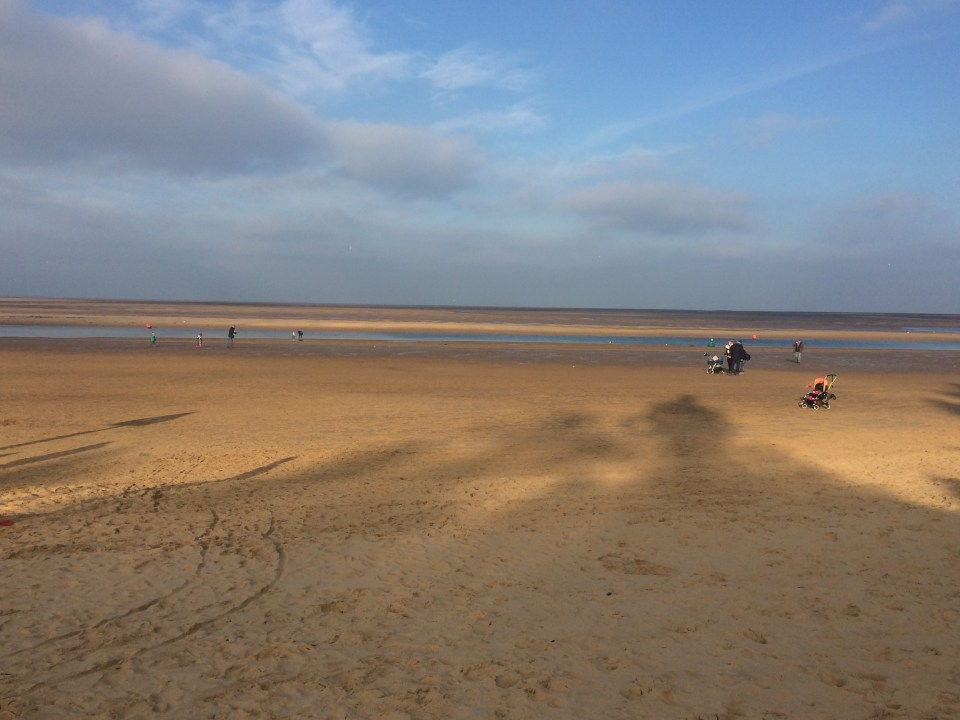 The beach at Wells-Next-The-Sea.