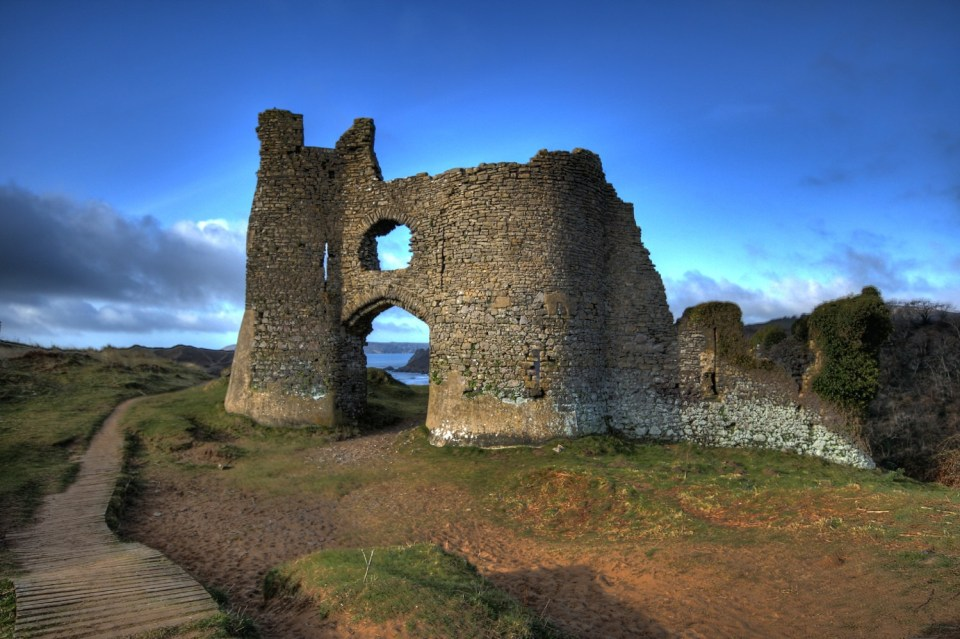 South wales Gower castles