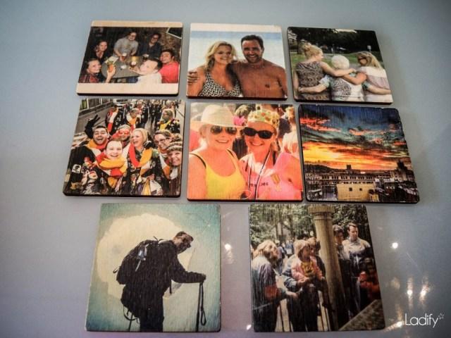 Foto's op hout