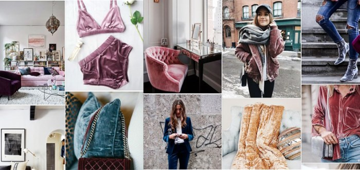 Pinterest board: Trending: Everything Velvet