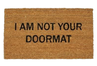 Not your doormat - housewarming cadeaus