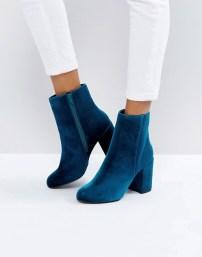 New Look Blauwe Enkellaarsjes - Asos