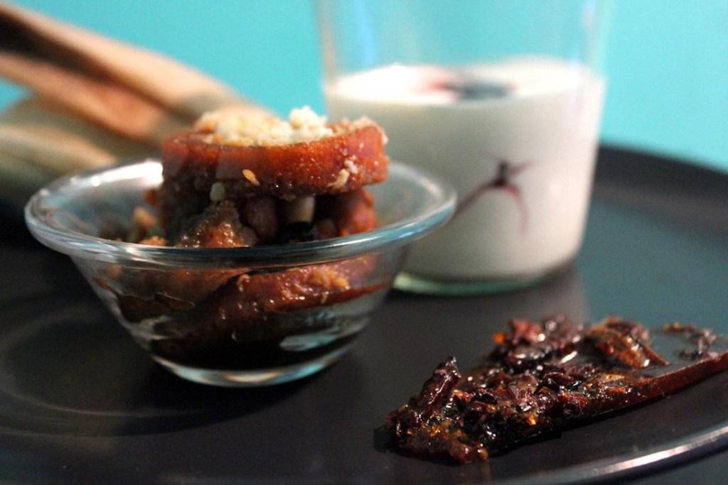 Palanquetas de insectos, otro de los platillos del menú de Yuri de Gortari en Berlín.