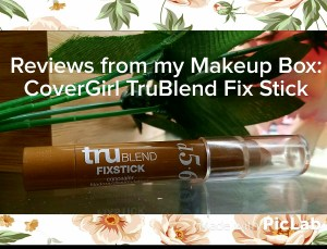 Reviews from my Makeup Box: CoverGirl TruBlend Fix Stick
