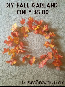 DIY Fall Garland for $5.00