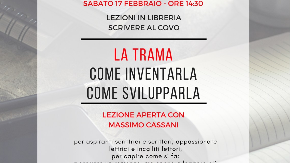 Lezione di scrittura al Covo con Massimo Cassani