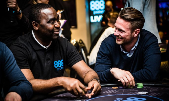 Andy Cole playing poker at 888.com tournament
