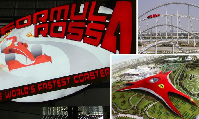 Abu Dhabi Ferrari World - home to the fastest roller coaster on Earth