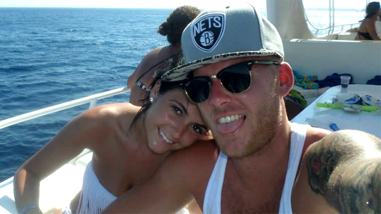 Mark and Cass on boat in Egypt