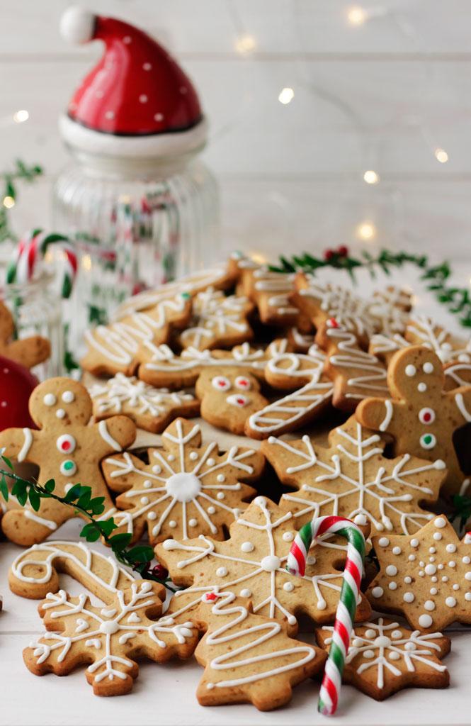 Galletas navideñas de cardamomo y jengibre