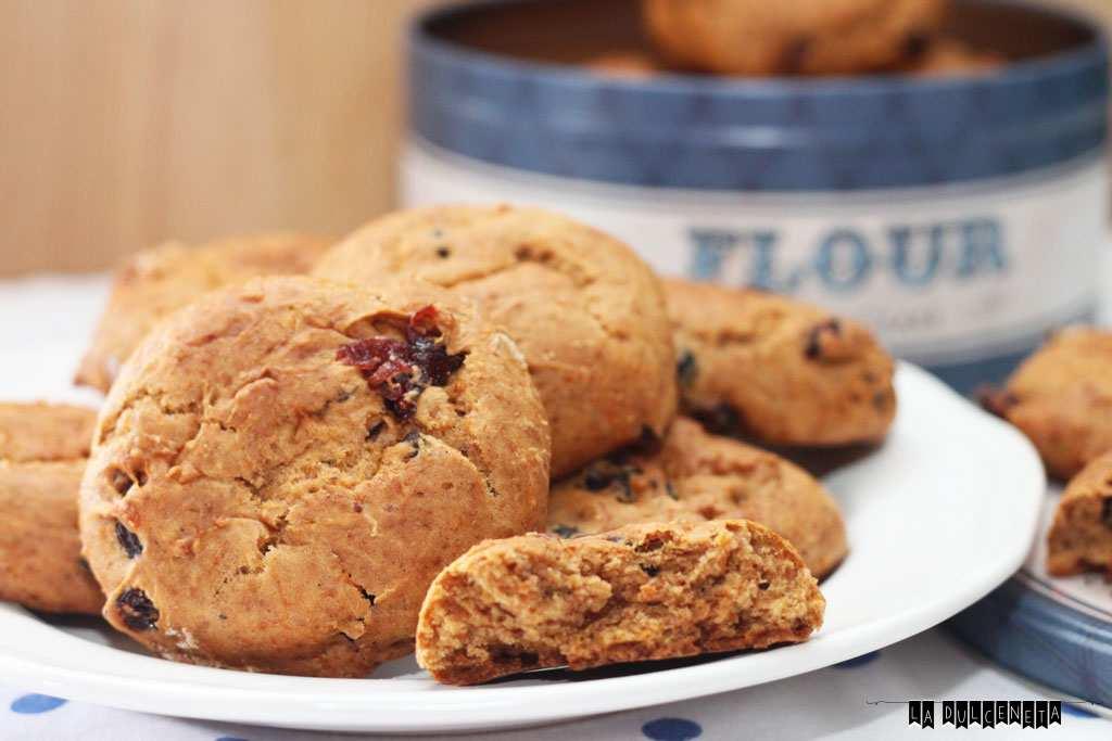 galletas tiernas calabaza de y arándanos