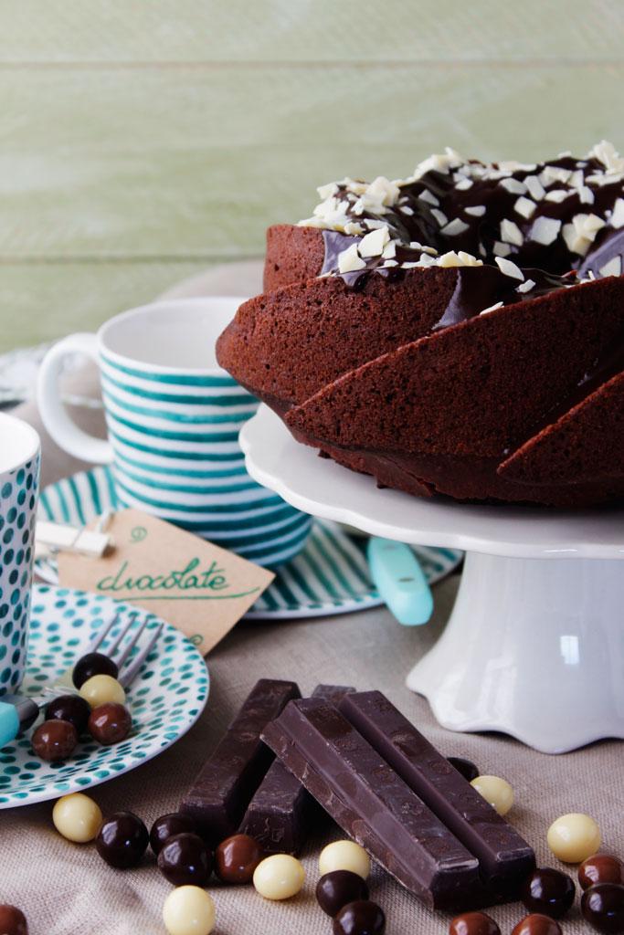 Bundt cake de chocolate y remolacha