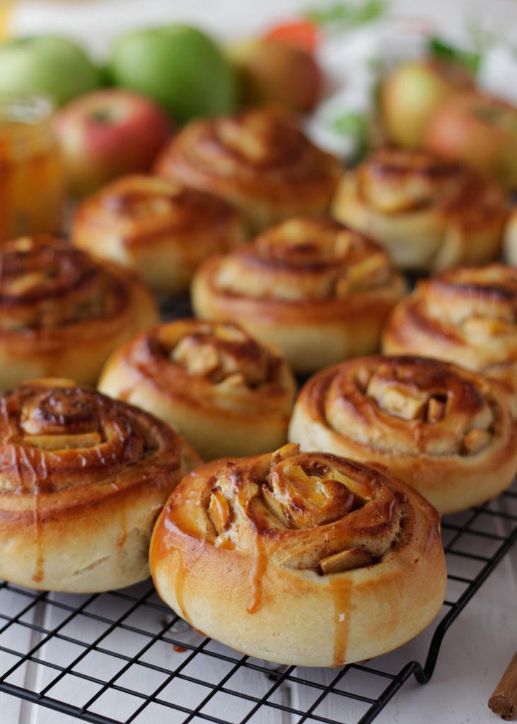 Rollos de manzana y canela