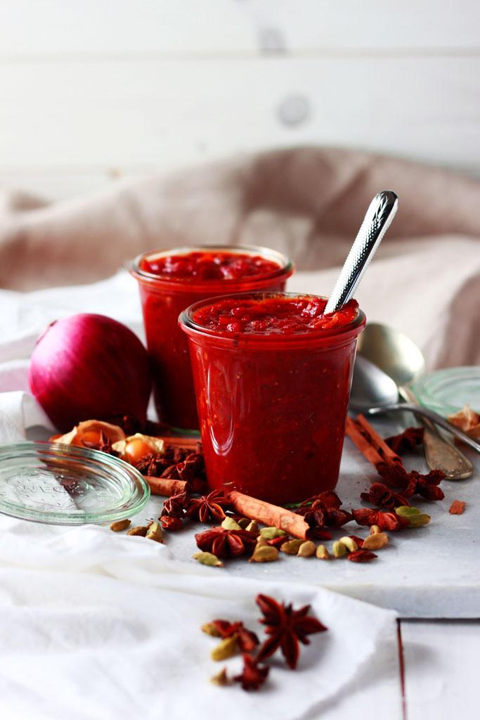 Chutney de tomate y physalis