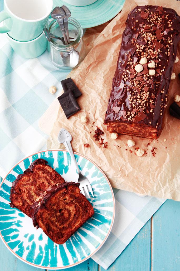 Bizcocho de calabaza y chocolate