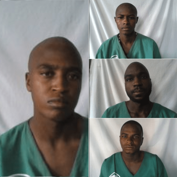 Faces of the four escaped inmates in Jos