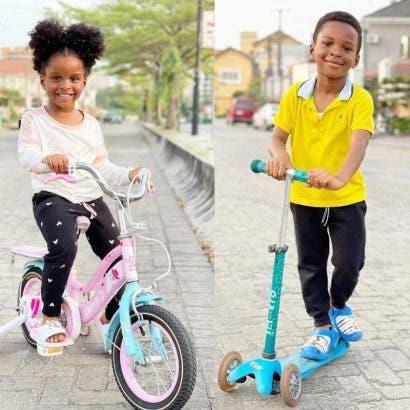Rudeboy celebrates as his twins -- Nadia and Nathan turn 4