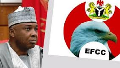 Saraki back home after being grilled by EFCC