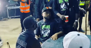 Photos: Davido joins friends and family for Obama DMW candlelight