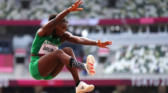 Ese Brume has won the first medal for Nigeria at the ongoing Tokyo 2020 Olympics.  She won bronze in women's long jump.  Germany's Malaika Mihambo soared to gold in the women's long jump, snatching victory from former champion Brittney Reese with her last leap of the competition.  Mihambo was lying in the bronze medal position ahead of her final jump, but powered down the runway to register a season-best jump of 7.00 metres.  That left 2012 Olympic champion Reese – who had led the competition with a best jump of 6.97m – with one final attempt to reclaim the lead.  But the American could only manage 6.84 with her last leap to settle for silver.