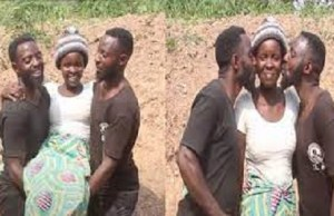 Lady marries twin brothers after mistakingly kissing the other