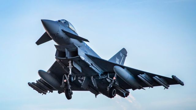 Military jets seen zooming over London this morning causing huge bang