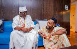 Patoranking pays homage to Ooni of Ife, Ogunwusi