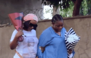 Actress, Ada Ameh visits her daughter's grave on death anniversary