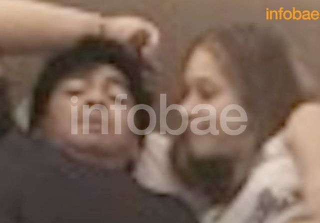 Footage emerges of Diego Maradona in bed with 16-year-old girl who claims he introduced her to drugs and they dated for 3 years