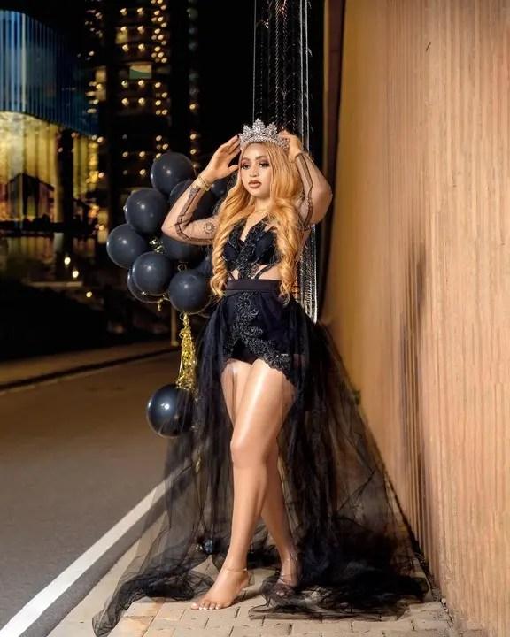 Regina Daniels portrays a Queen in birthday shoot
