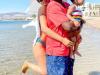 Beautiful photos of Regina Daniels, husband and son at the red sea