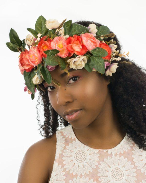 couronne de fleurs pour mariage avec roses
