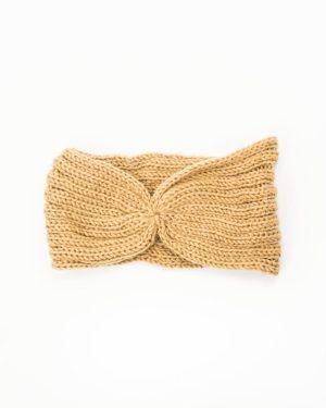 bandeau femme hiver ocre